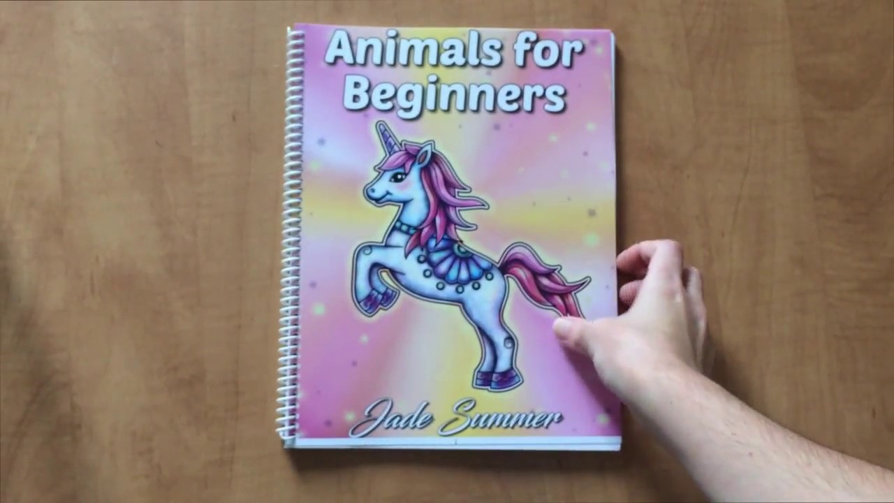 Apercu Du Nouveau Livre De Jade Summer Animals For Beginners Youtube