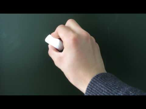 How to Write With a Chalk On a Blackboard