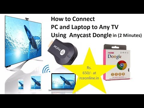 Connect PC (Older Windows Version Xp, 7, 8) To TV Using AnyCast In 2 Minutes