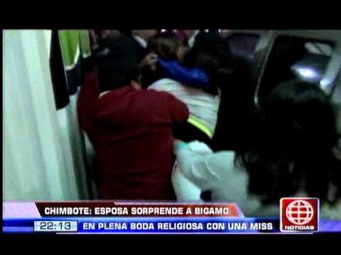 América Noticias: Hombre casado contrajo matrimonio con la ex miss Chimbote