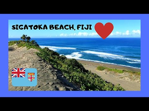 FIJI, the world's WILDEST and very VOLCANIC BEACH at SIGATOKA  (Viti Levu island)