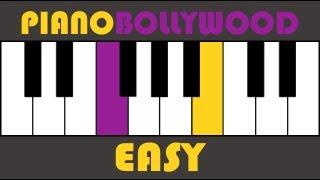 Kal Ho Naa Ho - Easy PIANO TUTORIAL - Stanza (मुखड़ा)