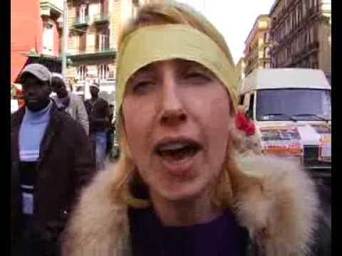 1 marzo 2010. Immigrati in piazza. Napoli (agenzia AMI)
