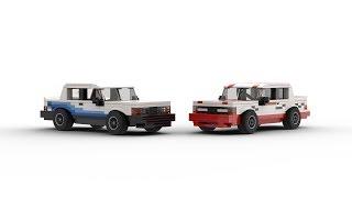 LEGO Volvo 240 Race Cars MOC