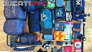 ALL MY CAMPING GEAR - everything I bring with me when I go motocamping v564