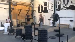 Торисдоттир жмёт стоя 65 кг