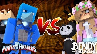 THE POWER RANGERS TAKE DOWN THE NEIGHBOUR ONE AND FOR ALL - Minecraft versus Sharky and Scuba Steve
