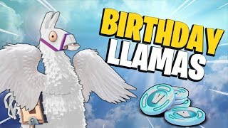 PRAYING TO THE RNG GODS!!! Fortnite Save The World Birthday Llama Opening | Vindertech