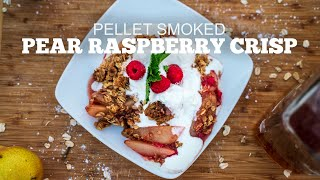 Pellet Smoked Pear Raspberry Crisp | Green Mountain Grill Recipes