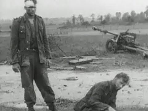 WW2 German prisoners and destroyed equipment - YouTube