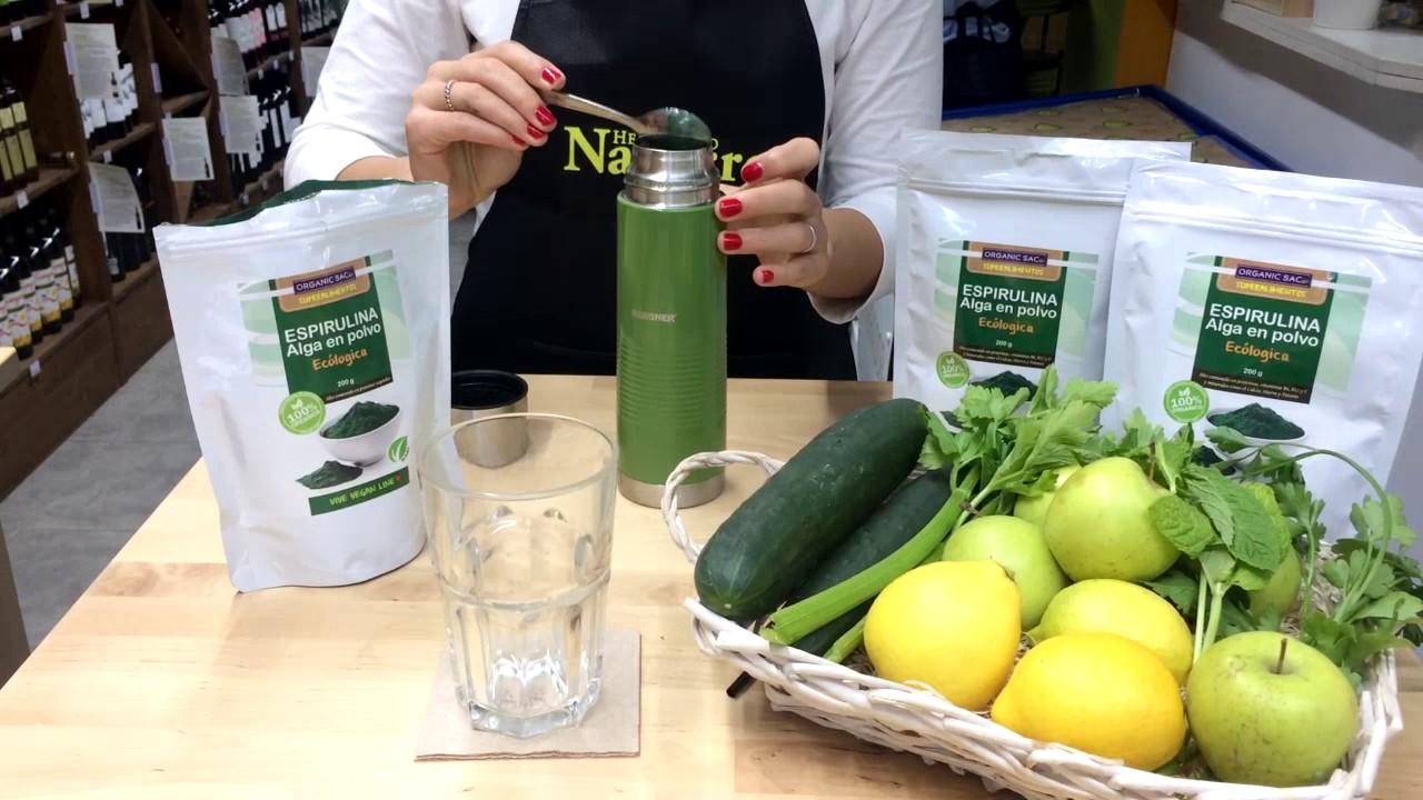 Spirulina para bajar de peso como se toma el pepino