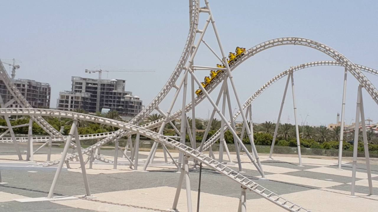 The Dangerous Flying Aces Roller Coaster At Ferrari World Abu Dhabi 22 07 2016 Youtube