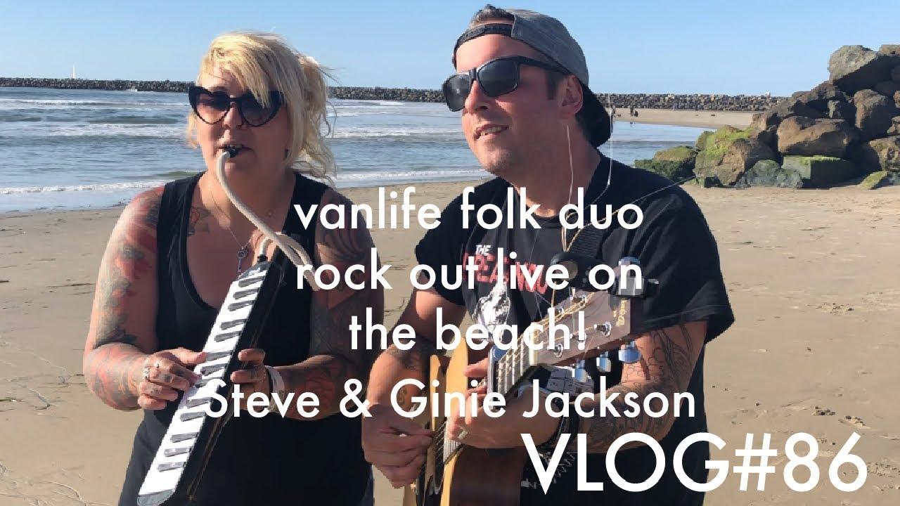 Vanlife Folk Duo Live Music Ocean Beach San Go Vlog 86