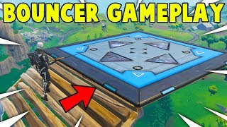 *NEW* 'BOUNCER' ITEM GAMEPLAY! NEW BOUNCER PAD GAMEPLAY! (Fortnite Update Gameplay)