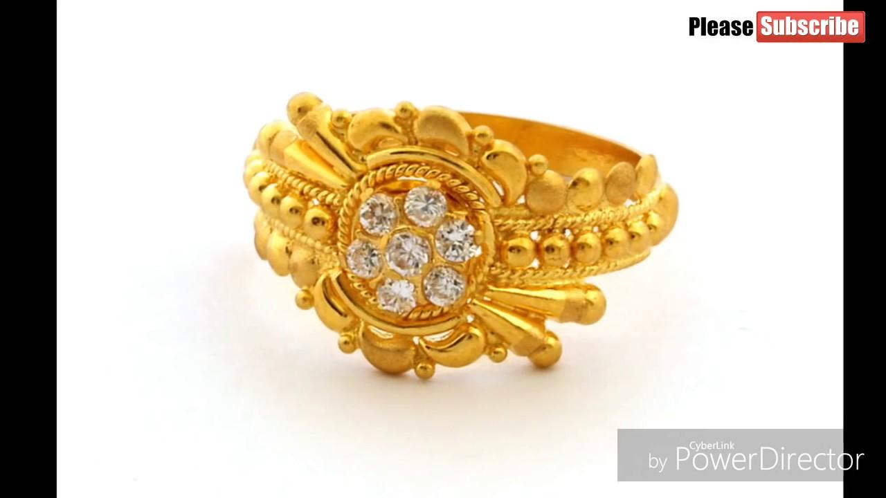 Light Weight Designer Gold Rings
