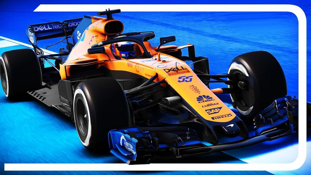 F1 2019 Mod Mclaren Mcl34 Gameplay Carlos Sainz Onboard Youtube