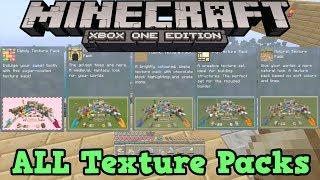 Minecraft Xbox One: ALL Texture Packs Showcase