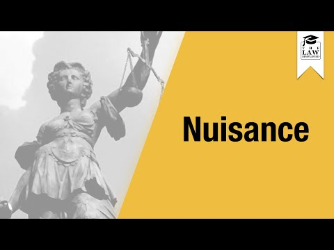 Tort Law - Nuisance