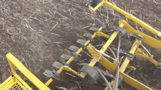 Claydon 6m Hybrid Drill Drilling Wheat into Rape Stubbles
