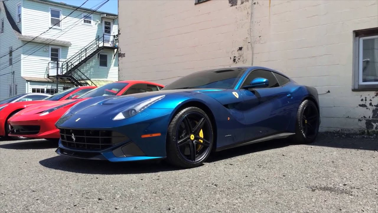 Ferrari F12 Berlinetta in Stunning Blue - YouTube