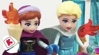 Lego Fun with Princess Elsa, Anna and Olaf! - Princesses In Real Life | WildBrain Kiddyzuzaa