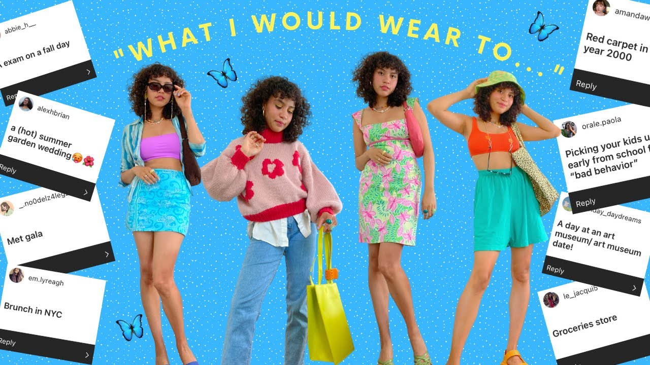 """""""What I Would Wear to *your suggestions*""""   10 sustainable + thrifted outfits"""