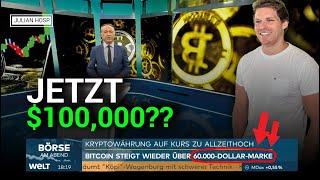 BITCOIN KNACKT $60,000!! LIVE INTERVIEW BEI BÖRSE AM ABEND
