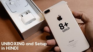 iPhone 8 plus Gold UNBOXING and setup in Hindi | INDIA
