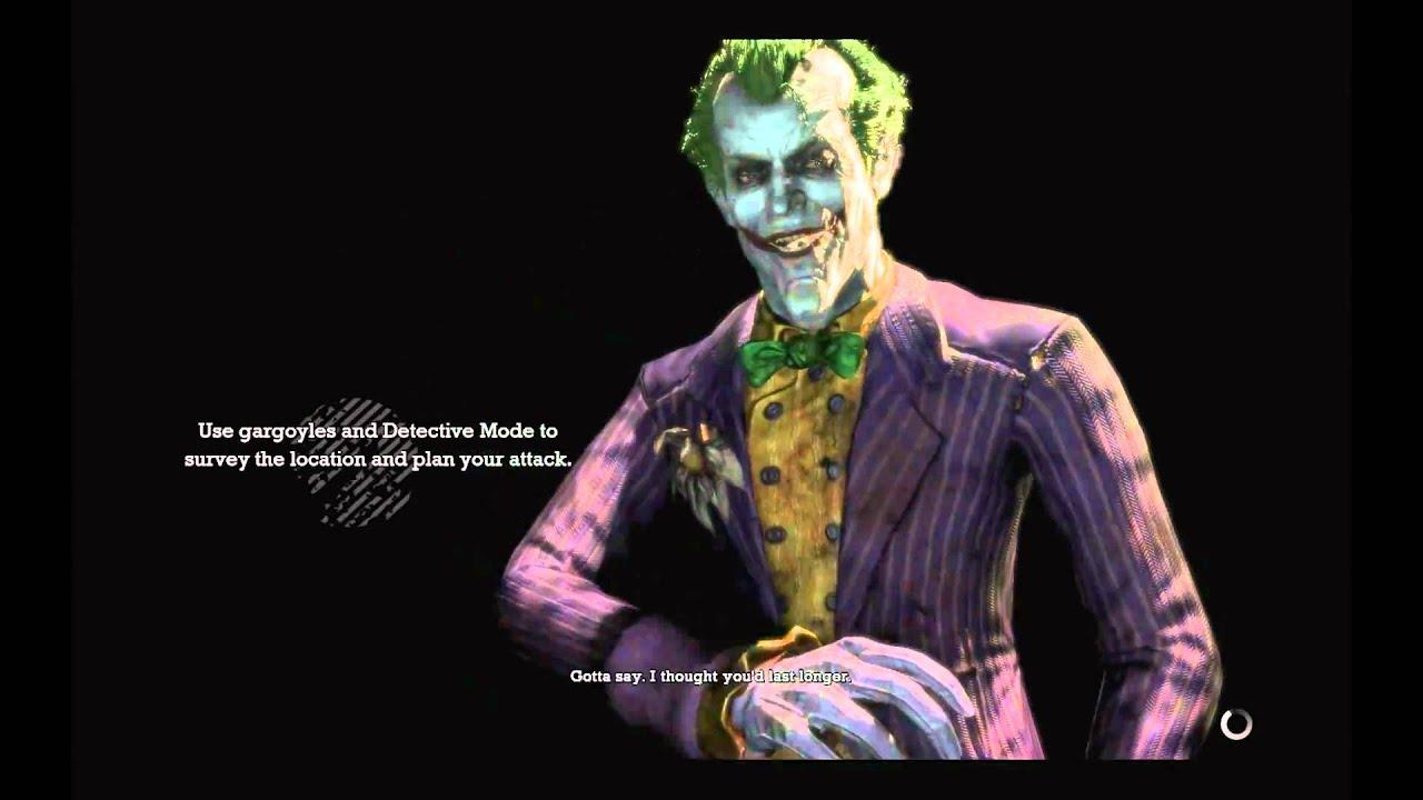 batman arkham asylum joker s game over lines