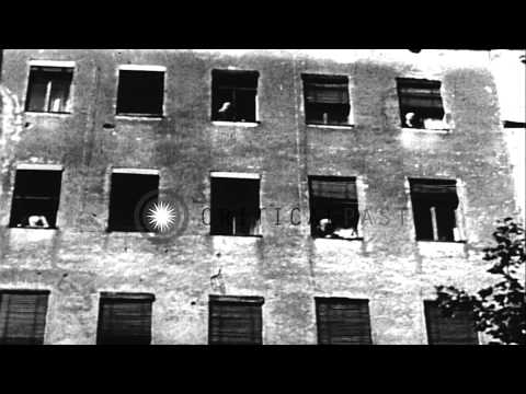 East Berlin people try to escape to West Berlin during Berlin Crisis of 1961. HD Stock Footage