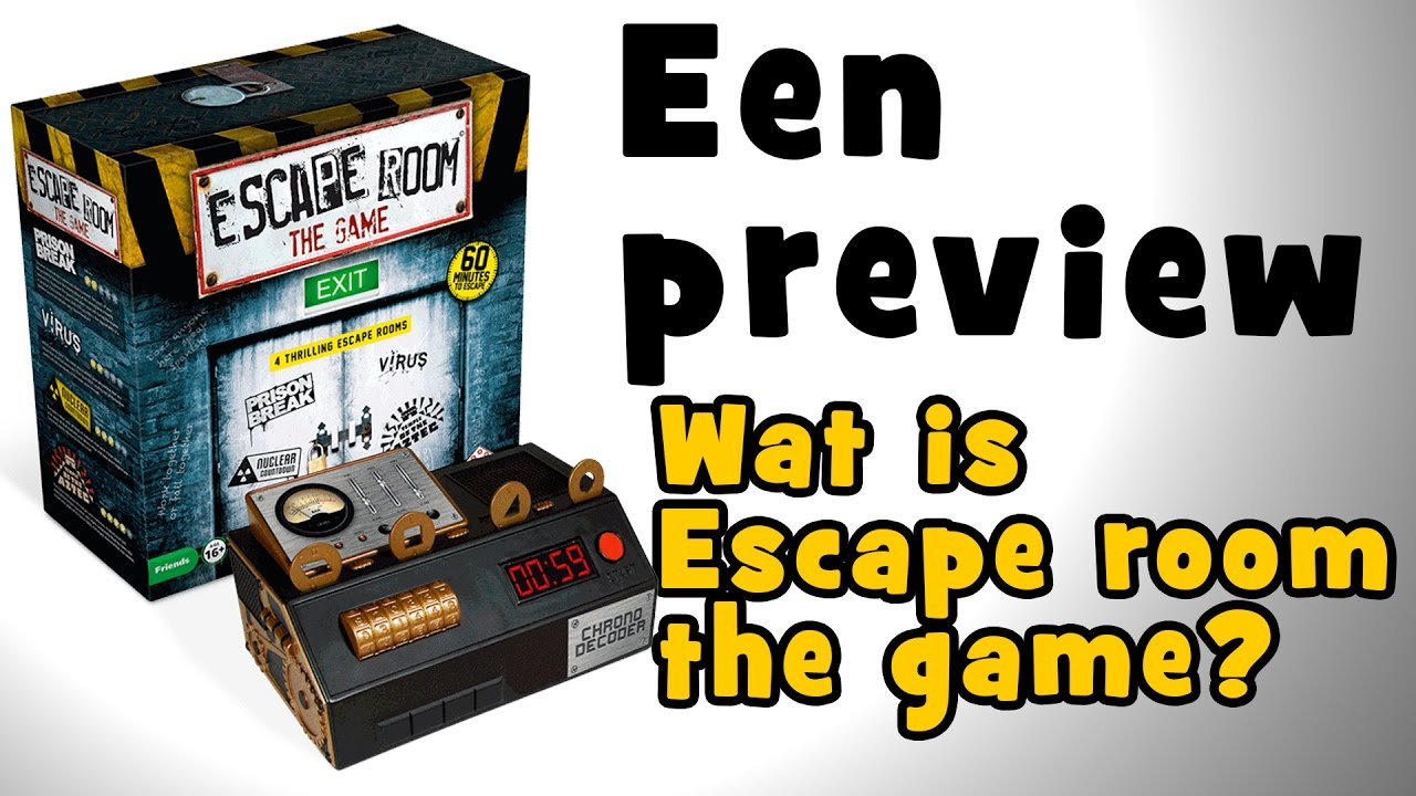 Escape room the game wat is het nou geen spoilers for Escape room gadgets