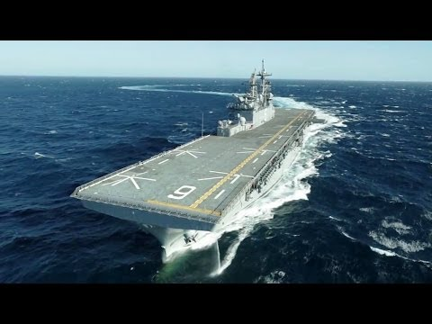 Ingalls Shipbuilding - America (LHA 6) Amphibious Assault Ship Builder's Sea Trials [720p]