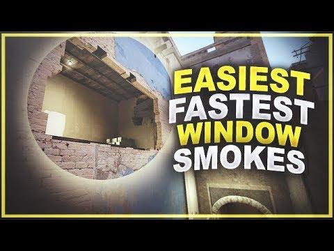 Easiest & Fastest Window Smokes (64 & 128 Tick)