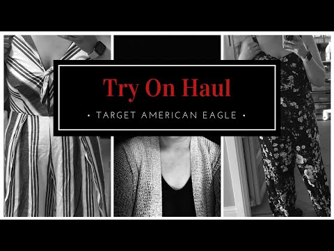 American Eagle Target Clothing Try On Haul | New Mom Clothes