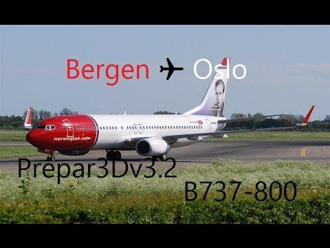 P3Dv3 Bergen ✈ Oslo [Rotación 1 - Vuelo 1] Virtual Norwegian