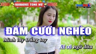 Đám Cưới Nghèo Karaoke Beat Gốc Tone Nam - Hoàng Dũng Karaoke