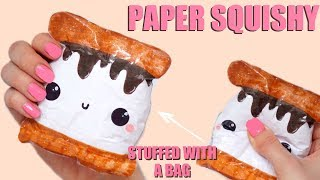 DIY PAPER SQUISHY | HOW TO MAKE A SQUISHY WITHOUT FOAM #21
