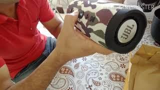 Caixa de som JBL CHARGE 3 comprada no Mercado Livre (réplica)