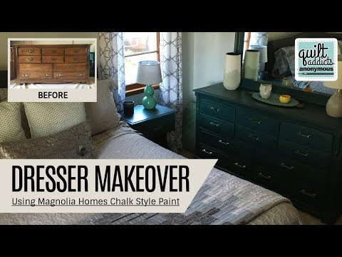 Magnolia Home Chalk Style Paint Dresser Makeover! Such A HUGE Before & After Difference!