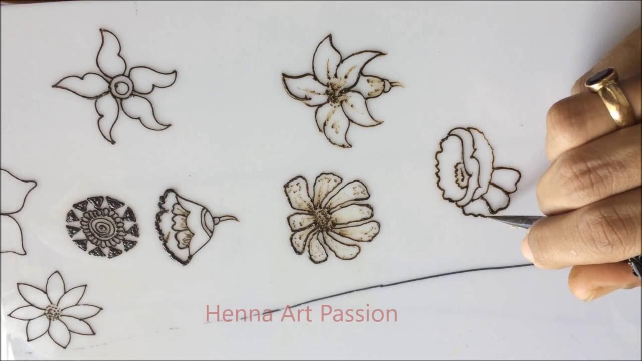 Line Art Flower Design : Embellishment different types of flower for all