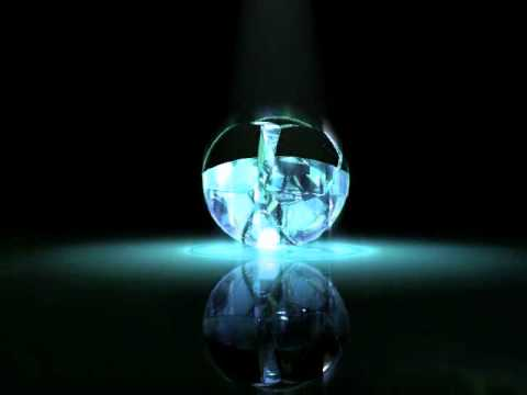 Shattered glass ball - YouTube