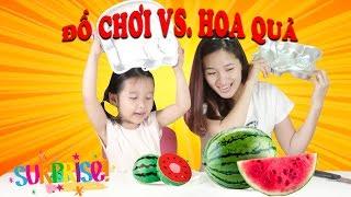 ĐỒ CHƠI TRÁI CÂY vs TRÁI CÂY THẬT 🤣 Toy Velcro Cutting Fruits vs Real Fruits ♥ Dâu Tây Channel