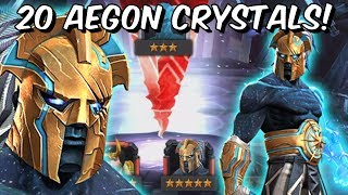 20x 5 Star Aegon & The Champion Featured Crystal Opening! - Marvel Contest Of Champions