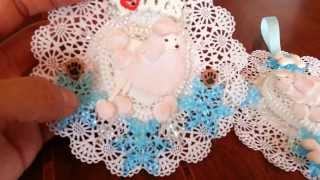 Layered Paper Doily Poodle Ornaments - Day 14 Of Ornaments