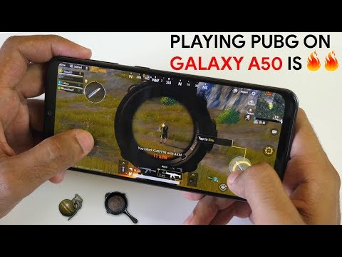 Samsung Galaxy A50 PUBG Gameplay performance Review! In built Screen recording!
