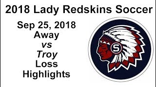 2018 Lady Redskins Soccer vs Troy, 9/25/2018, Highlights