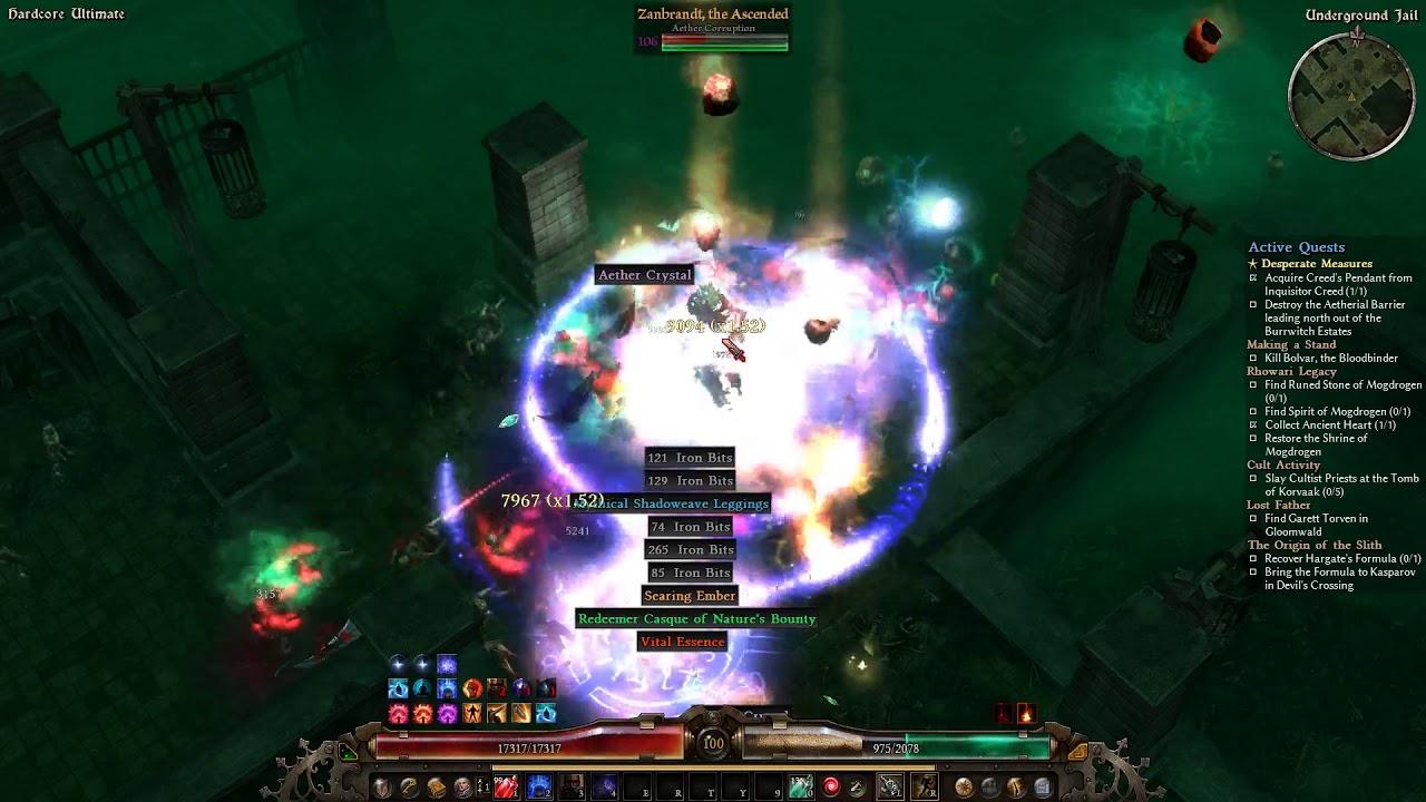 Grim Dawn HC Human Torch Auramancer build - Quick Warden Run by grzyb  grzybowy