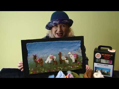 How to make an Artfelt Llama Felt Making Picture - Part 1