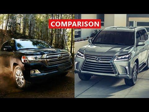 2017 Lexus Lx 570 Vs Toyota Land Cruiser Suv Comparison Interior Exterior Off Road