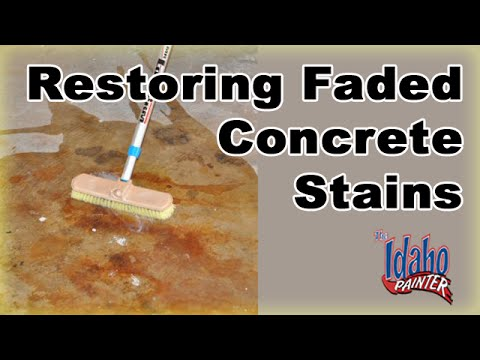 How To Restore Concrete Sealer Restoring Faded Colored